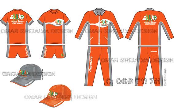 Dise o de uniforme deportivo atletismo grijalva for Ropa de diseno online