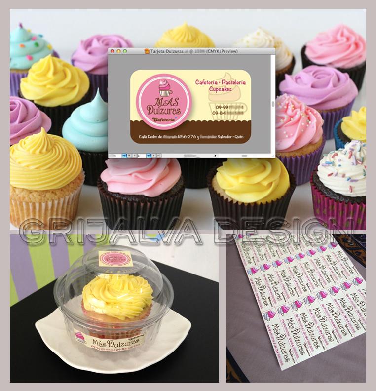 Branding etiquetas empaque para pasteler a dulcer a - Plantillas para reposteria ...